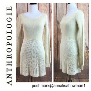 💸Anthropologie Knitted & Knotted Knit Dress XS